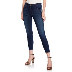 J Brand High-Rise Skinny Capri Jeans in Scout